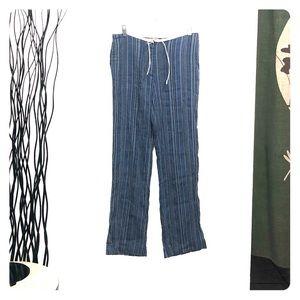 Alan Bilzerian Striped Blue Boho Pants Size M